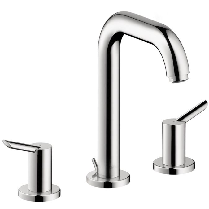 Image On Hansgrohe Chrome Focus S Bathroom Faucet Widespread Faucet with Lever Handles