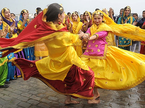Punjabi traditional folk Giddha outfits. Love all the vibrant colors!