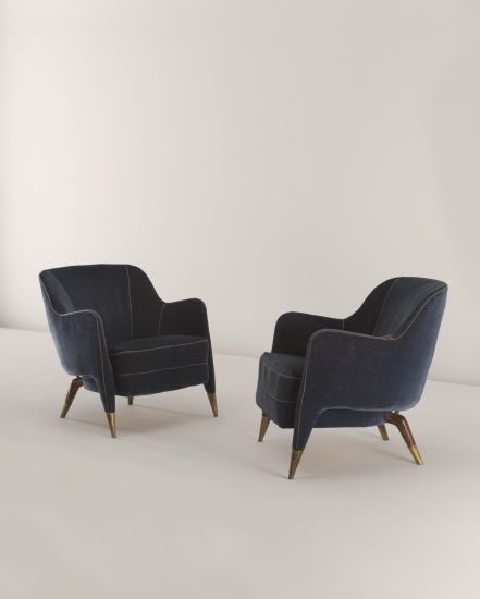 PHILLIPS : NY050311, GIO PONTI, Unique pair of armchairs, from an important private commission