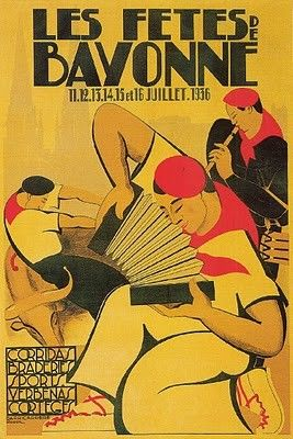 vintage poster: les fetes de bayonne