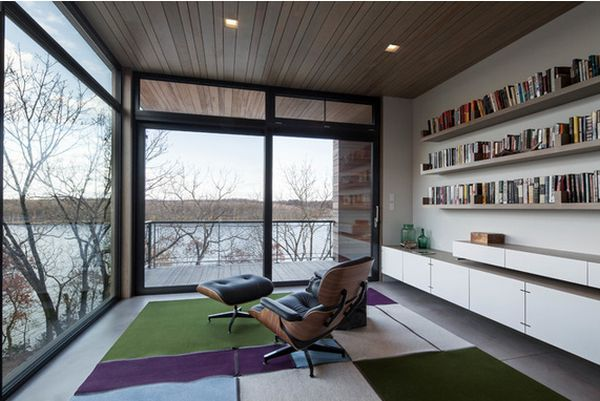 Your home office can also be your reading sanctuary.Love the Herman Miller Eames Lounge Chair