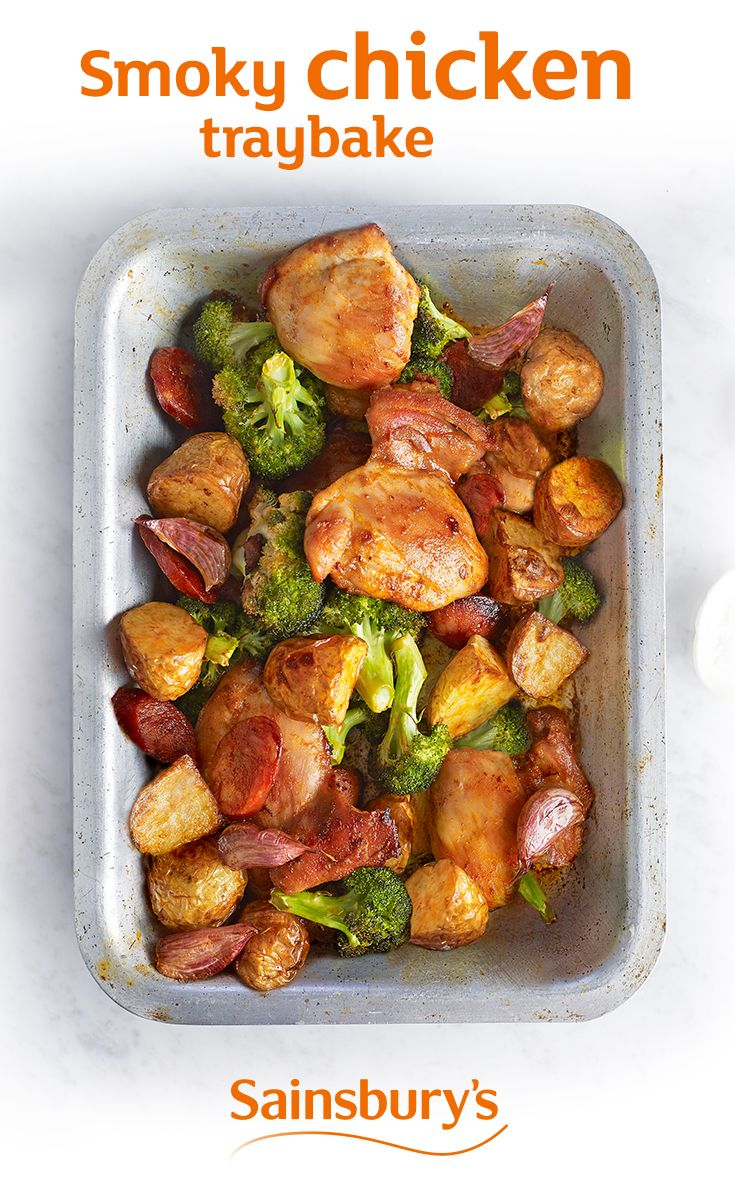 Tonight's dinner and tomorrow's lunch - this smoky chicken traybake tastes great cold. Perfect for a picnic!
