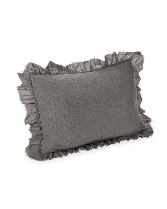 Nina Campbell Ruffle Quilt, Artisan Home By Nina Campbell Bedding