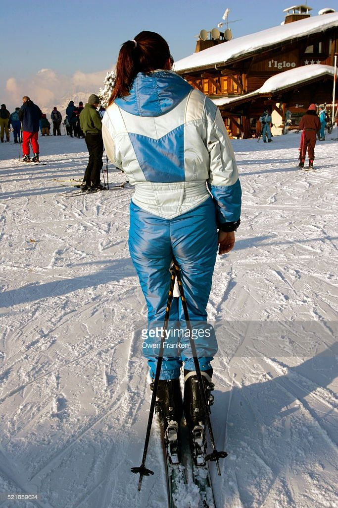 521859624 (onesieworld) Tags: woman ski sexy fashion sport fetish shiny neon retro 80s onepiece nylon 90s catsuit snowsuit onesie kink skisuit