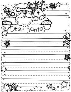 Cute writing paper to Santa Clause! Thanks to DJ inkers for the great borders and clip art!