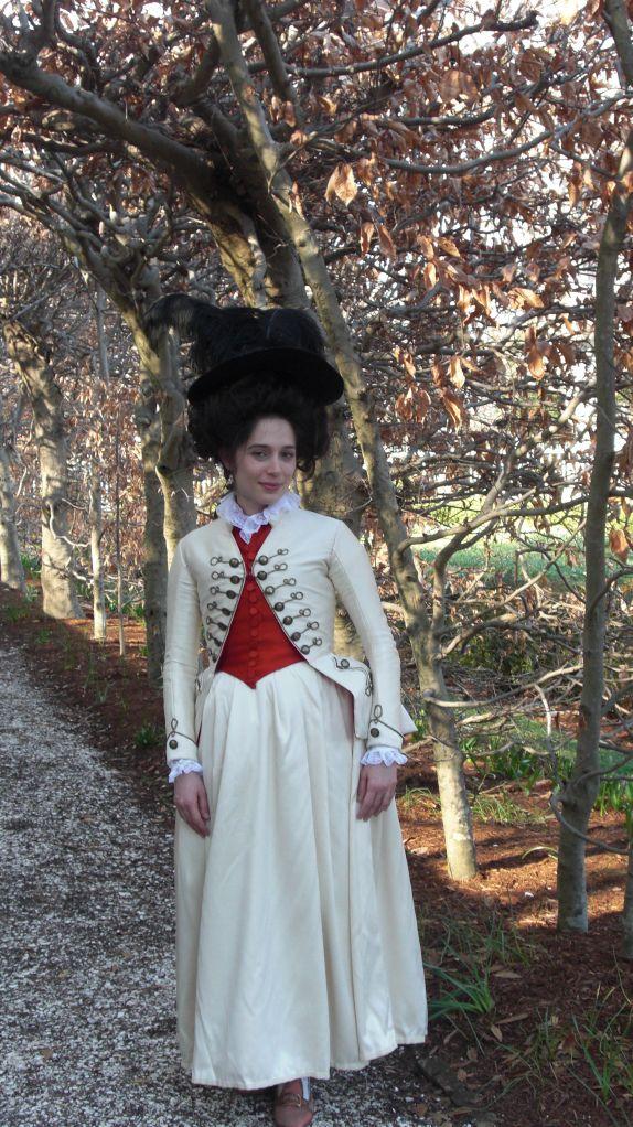 1780s White Riding Habit