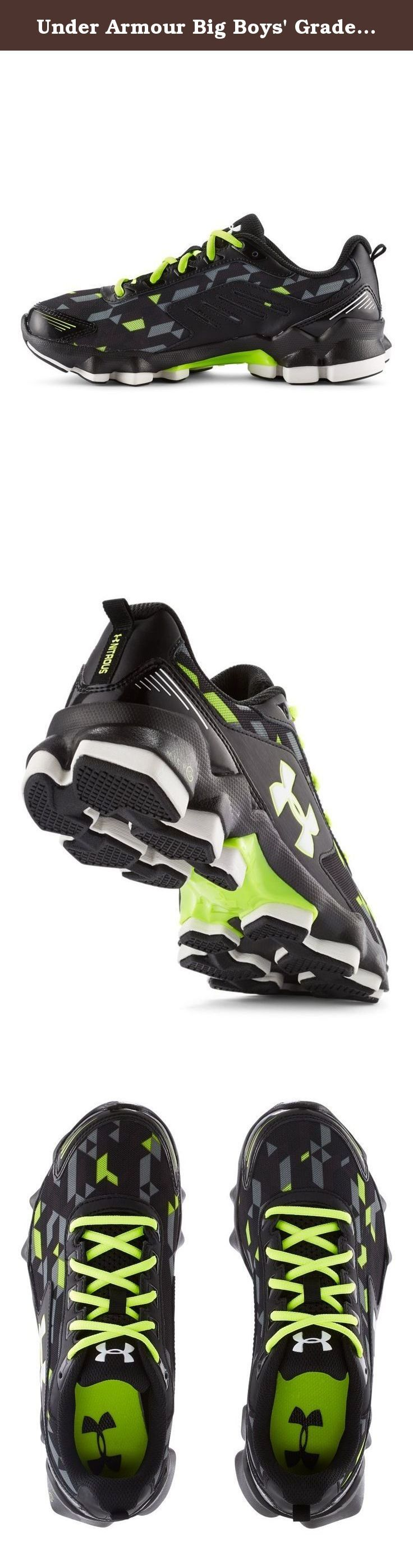 Under Armour Big Boys' Grade School UA Micro G® Nitrous Running Shoes 4.5 Big Kid M Black.