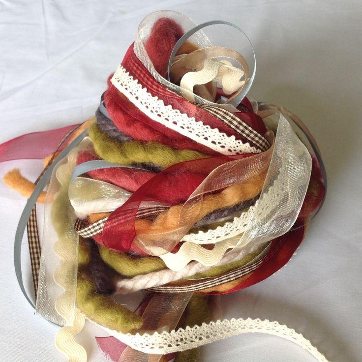 Art Fiber Bundle - Autumn, Weaving, by AltitudeFarmStore on Etsy