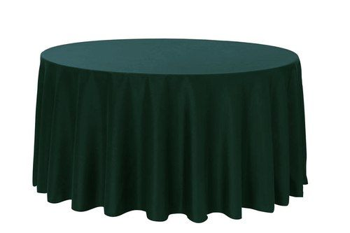 108 Inch Round Polyester Tablecloth Hunter Green Purple Tablecloth Wholesale Table Linens Purple Table