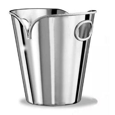 Cantina Elegance Ice Bucket.  This chromed metal ice bucket from Cantina Arredo, provides both an elegant presentation piece, and a functional wine cooler. Designed with inbuilt handles, this ice bucket holds a single bottle of wine.