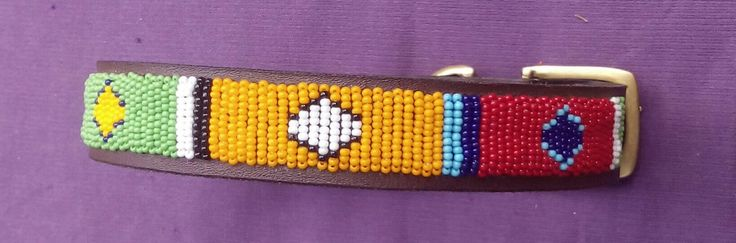 Multi colors leather beaded dog collar, African handmade beaded dog collar, Kenya Handmade, masai jewelry, dog gift collar, by wasaniicrafts on Etsy