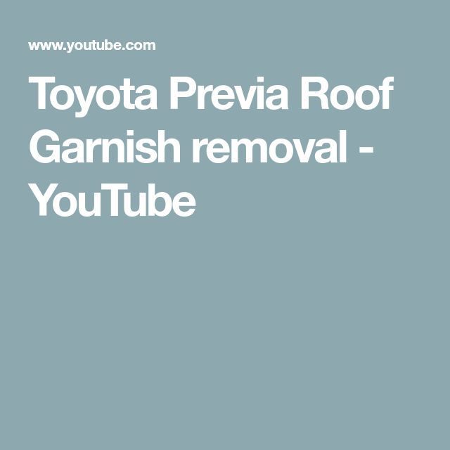 77 best toyota previa 91 97 images on pinterest toyota previa toyota previa roof garnish removal youtube fandeluxe Gallery