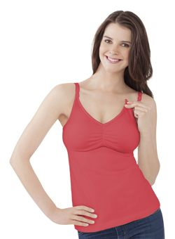 The Essential Nursing Tank - Most nursing tanks just have a shelf bra, but theirs is built like a supportive bra.