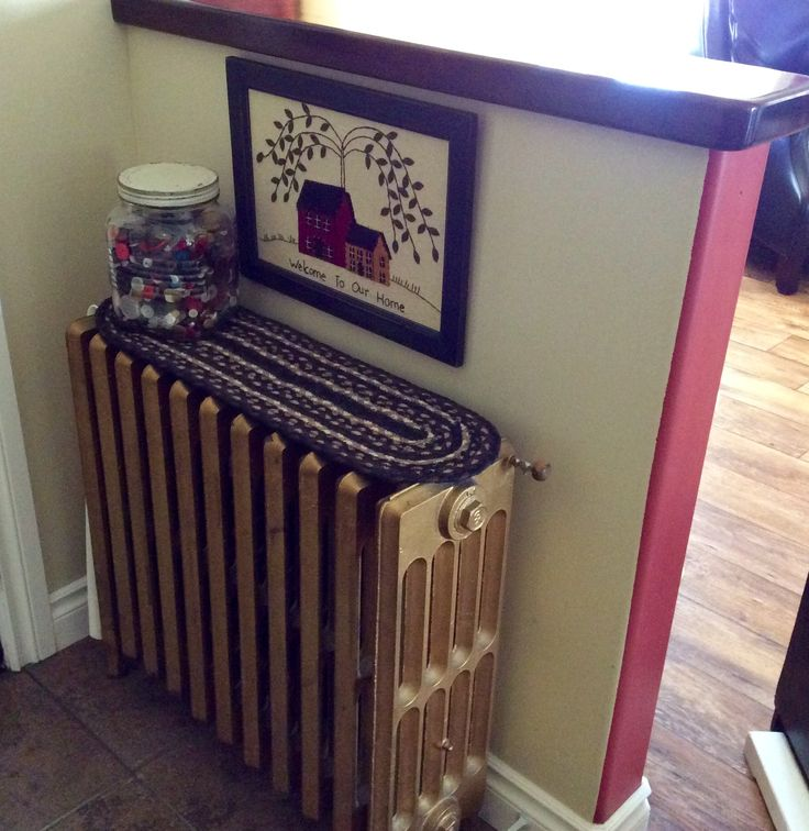 An old radiator gave a vintage feel to our newly built house.