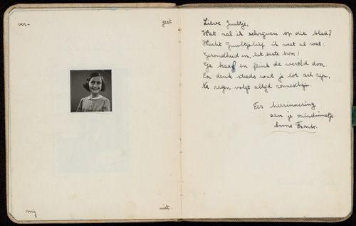 Una poesia scritta a mano da Anna Frank (e sconosciuta finora) va all'asta ad Amsterdam.  Il Blog di Fabrizio Falconi: Una poesia scritta a mano da Anna Frank (e sconosc...