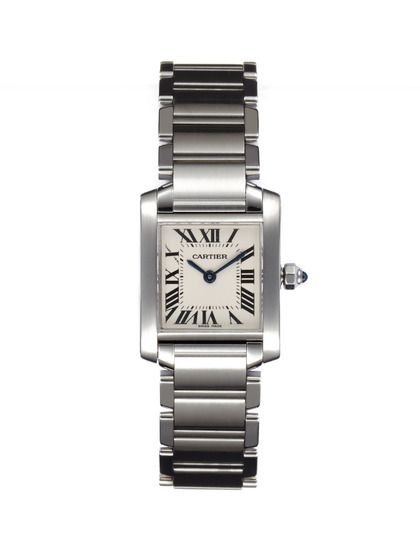Cartier Tank Francaise Stainless Steel Watch by Portero Luxury