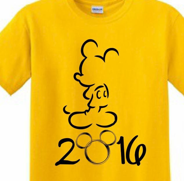 Disney, Mickey Mouse, Magic Kingdom, Printed T-shirt Minnie Mom Mickey Dad Disney Family Vacation 2016 funny cute Customized T-Shirts by ApolloUniforms on Etsy