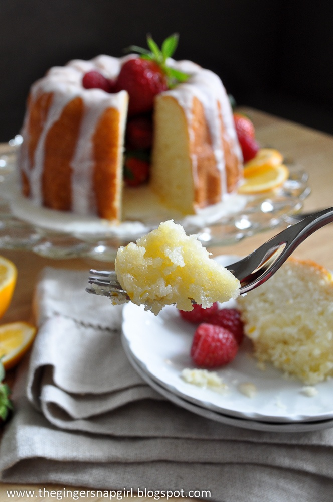 The Ginger Snap Girl: Glazed Meyer Lemon Buttermilk Cake and 3 Years of Blogging