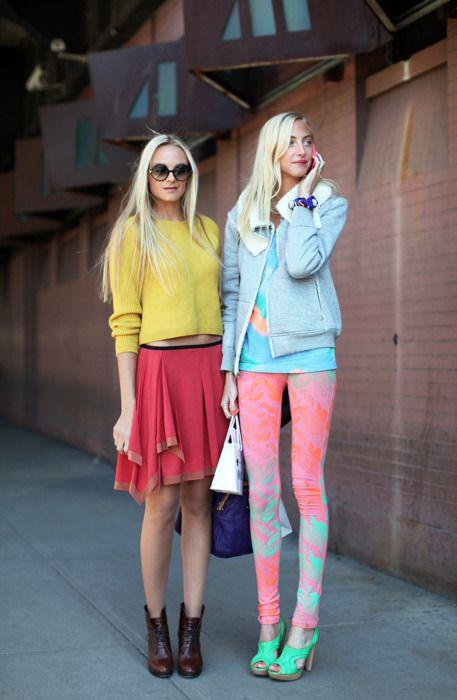:): Colour, Color Blocking, Fashion Style, Street Style, Fashion Week, Colors, Street Styles, Leggings