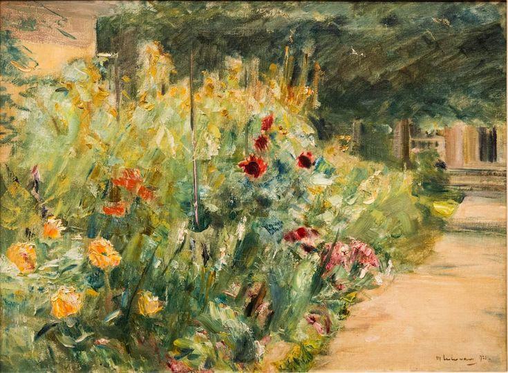 Max Liebermann, Blumenstauden am Gärtnerhäuschen nach Osten (1923), Museum Barberini, Potsdam