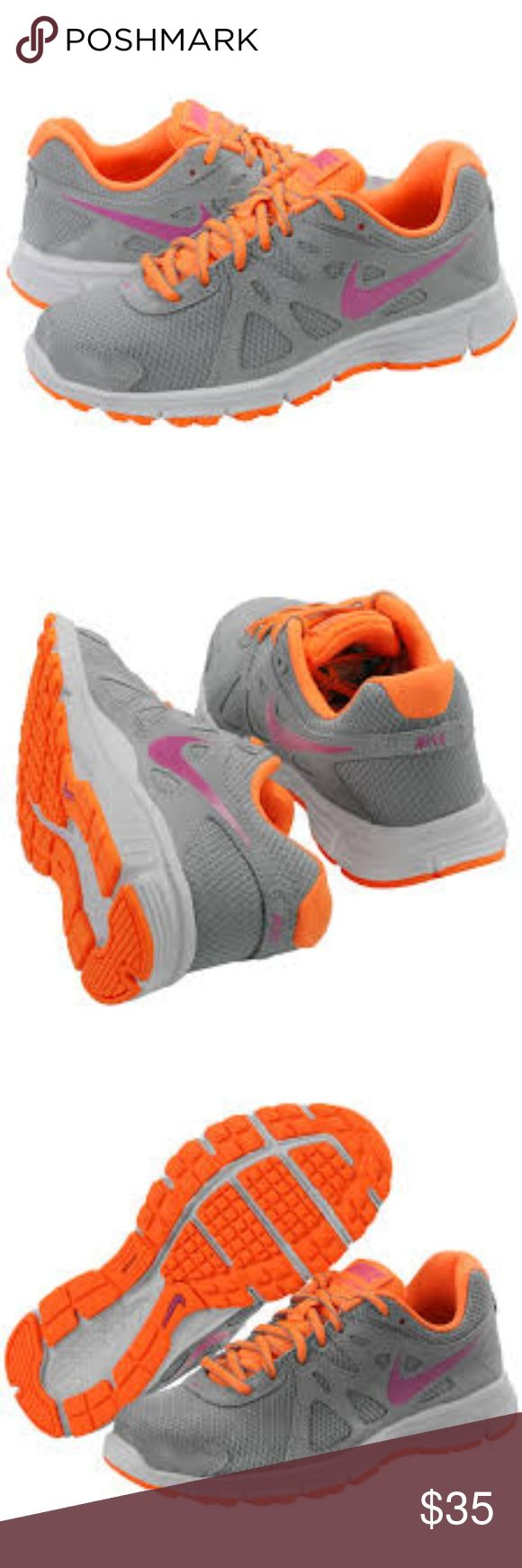 NIKE Revolution 2 Running Athletic Sneaker Nike Revolution 2 Running Shoe Size 7 EUC! Very slight scuffing near toe of shoe, otherwise great(used) condition. I wore maybe 3-4 times. Nike Shoes Sneakers