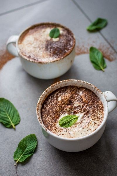 Vegan Peppermint Hot Chocolate that is just as good as the original dairy version.