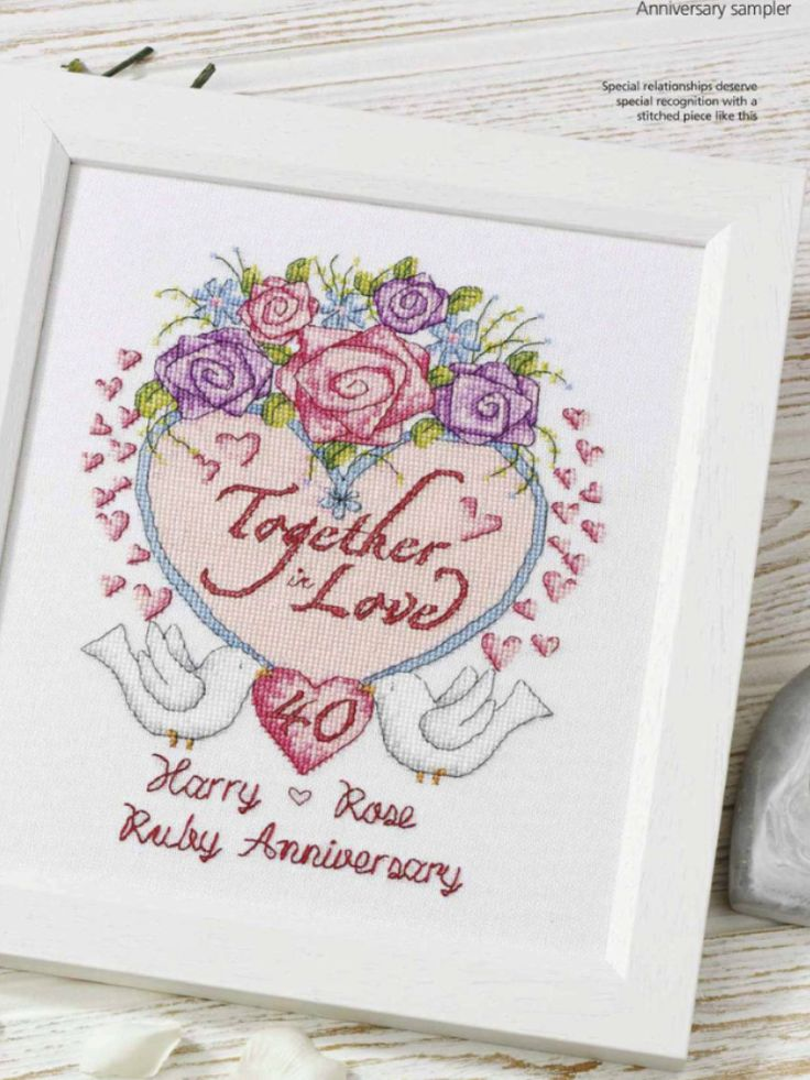 Wedding Anniversary  Cross Stitch Gold Issue 110 2014 Saved