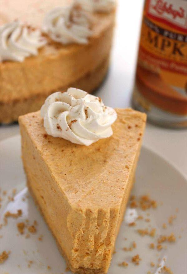 | Skinny No-Bake Pumpkin Cheesecake