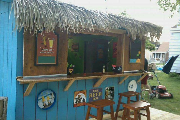 Tiki bar shed
