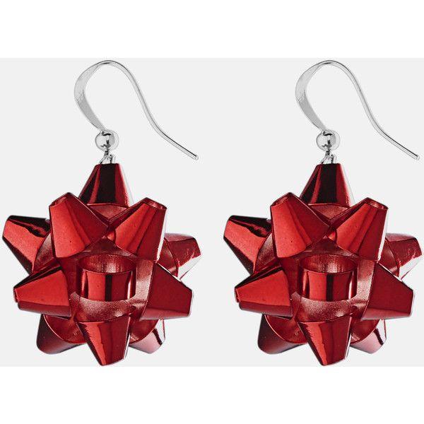 Avenue Bow Drop Earrings ($4.80) ❤ liked on Polyvore featuring jewelry, earrings, plus size, red, imitation jewelry, red jewellery, red earrings, fake earrings and drop earrings