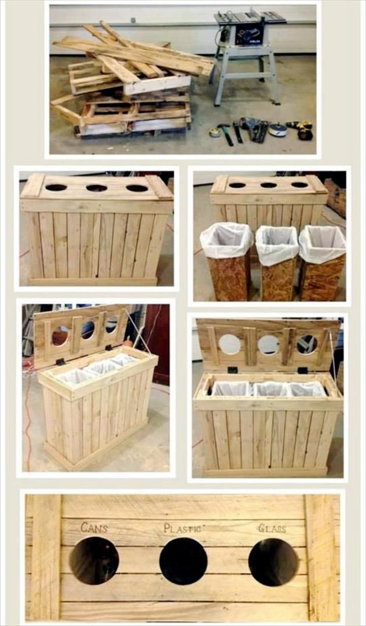 Pallet Large Trash/Recycling Bin - Why We Love Pallet Projects (And You Should, Too!) | Pallet Furniture DIY - Part 2