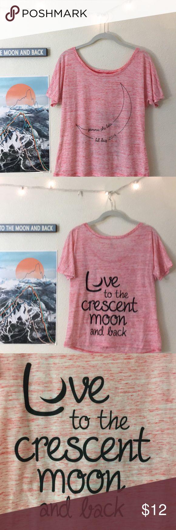 GPhi T-shirt Gamma Phi Beta sorority apparel   Soft and flowy heather-ed pink Tee Tops Tees - Short Sleeve