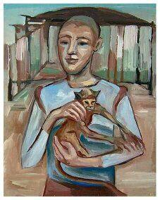 Guirado art - Joven con mono.