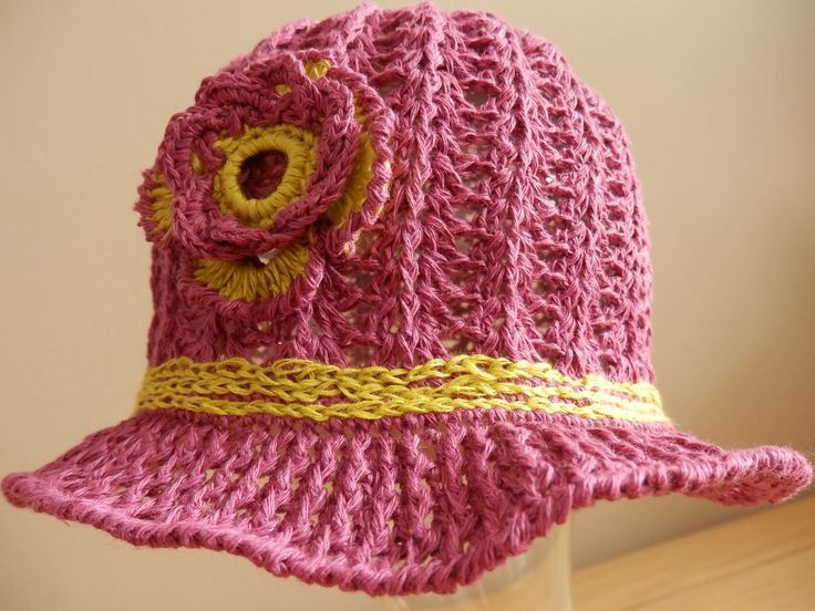 Crochet Linen Summer Baby Hat, Girl hat, Crochet baby hat, Crochet linen hat with flower. Sun Hat. Spring hat.   A cute girly hat for everyday wear. This is a great hat for spring and summer . This entirely handmade crochet hat.  Perfect for any occasion. (scheduled via http://www.tailwindapp.com?utm_source=pinterest&utm_medium=twpin&utm_content=post157810157&utm_campaign=scheduler_attribution)