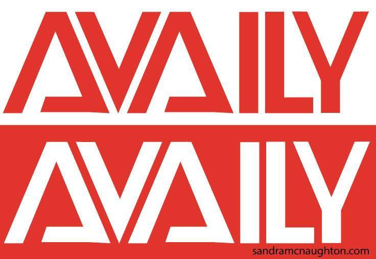 Wordmark made for Availy (think availability), they made presence apps for consumers.