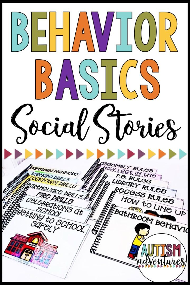 Behavior social stories for students with special needs.  Behavior Curriculum for students with special needs.  Teach students basic behavior skills needed for the classroom.  Classroom management curriculum