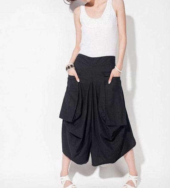 linen Asymmetric women divided skirts by MaLieb on Etsy, $66.00