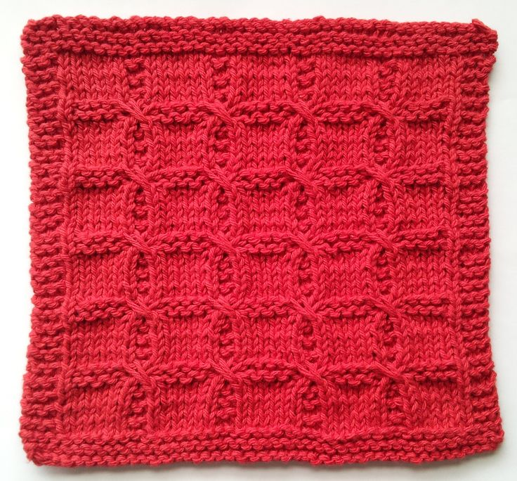 Swish with a Twist knitted washcloth pattern.