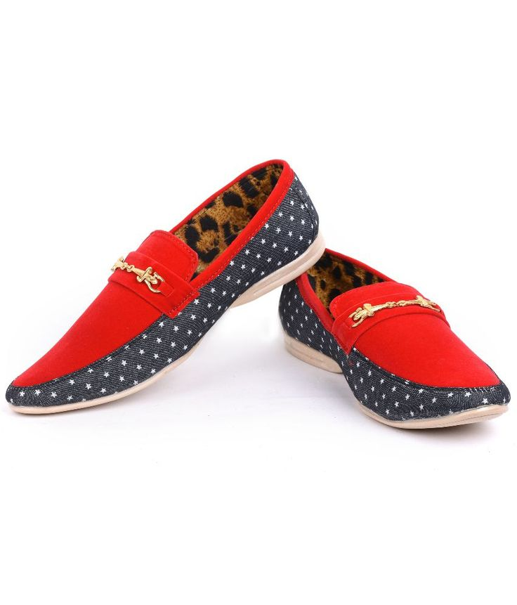 Foot N Style Red Slip-On Loafers