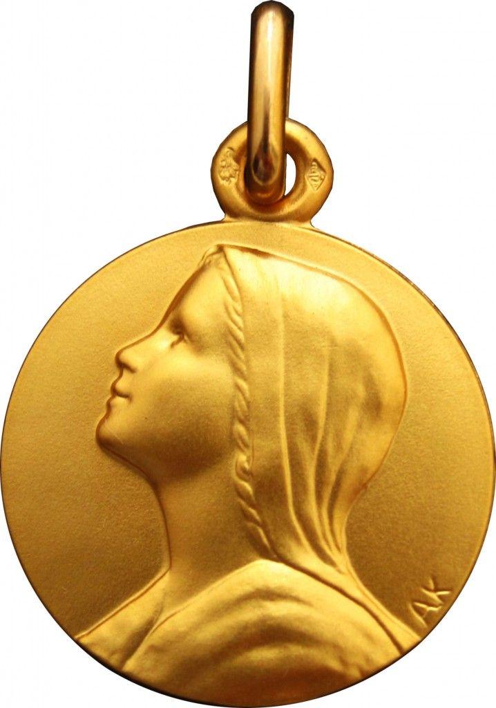 Medaille bapteme Vierge de l'Espérance en OR