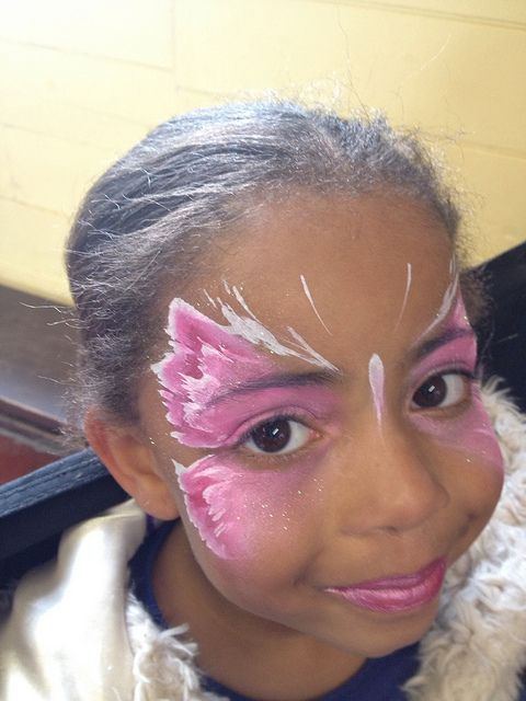 This is my quick butterfly, painted a few of these over the Easter weekend, funny how they all choose pink! by Jennifer Parker @ Kaleidoscope Face Painting, via Flickr