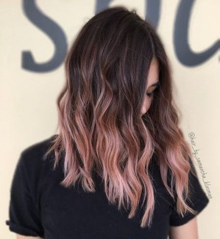 36 stylish hair coloration concepts for brunettes balayage rose gold haircolor