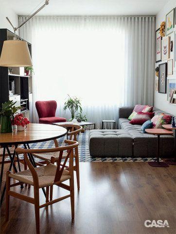 Cortinas piso peque o rincon rustico for Cortinas departamentos pequenos
