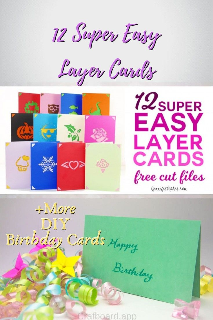 22 Easy Unique And Fun Diy Birthday Cards To Show Them Your Love Birthday Card With Photo Create Birthday Card Easy Birthday Cards Diy