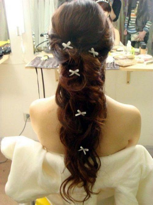 Hair inspiration #bridal #hairdo #long #hairstyles