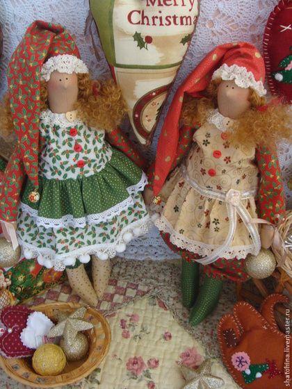 Куклы Тильды ручной работы. Ярмарка Мастеров - ручная работа Гномочки хлопушки -конфетти новогодние  (по мотивам Тильда). Handmade.
