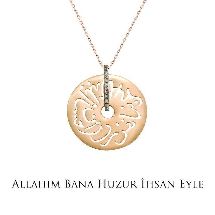 Ramazan ayında tüm dualarımız sevdiklerimiz için... Altın Seb'a Kolye - Allah'ım bana huzur ihsan eyle!