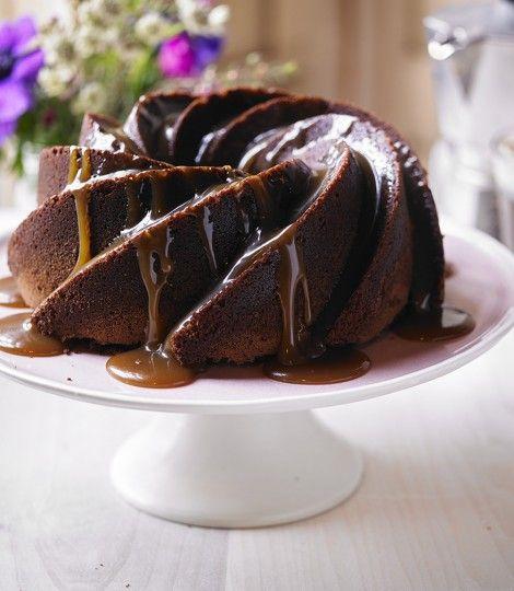 Chocolate and Baileys caramel bundt cake
