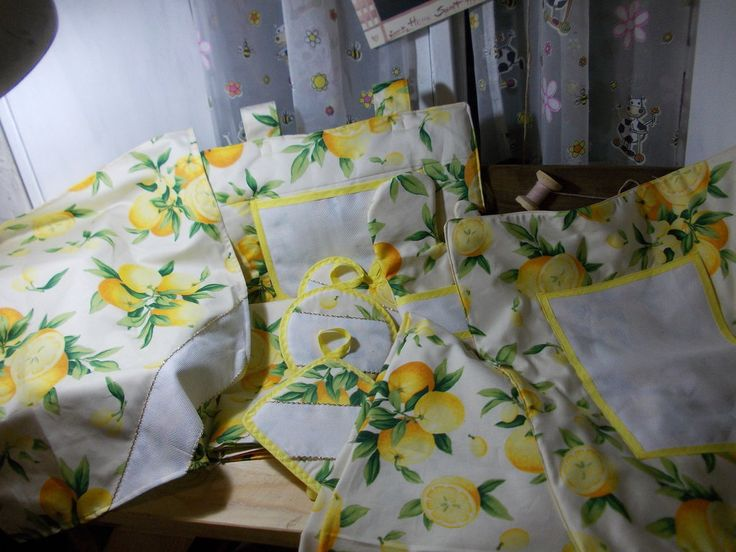 set cucina lemon delights, by pezze pazze, 60,00 € su misshobby.com