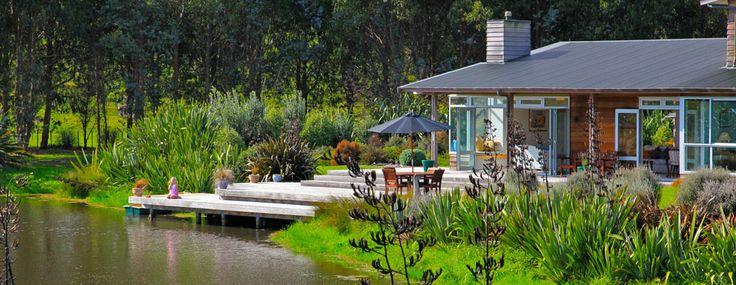residential architecture waitaheke wetland home